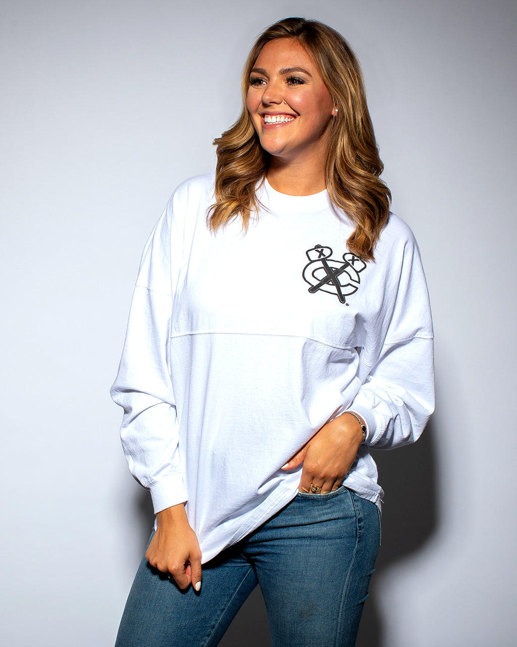 Ladies White Tomahawk Spirit Jersey