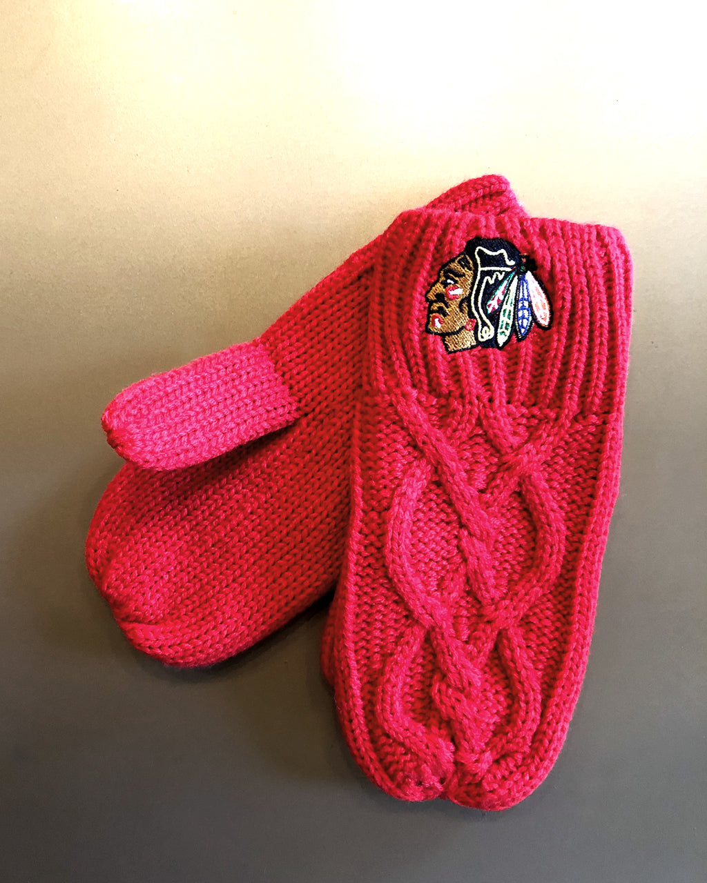 Ladies Zoozatz Cable Mittens