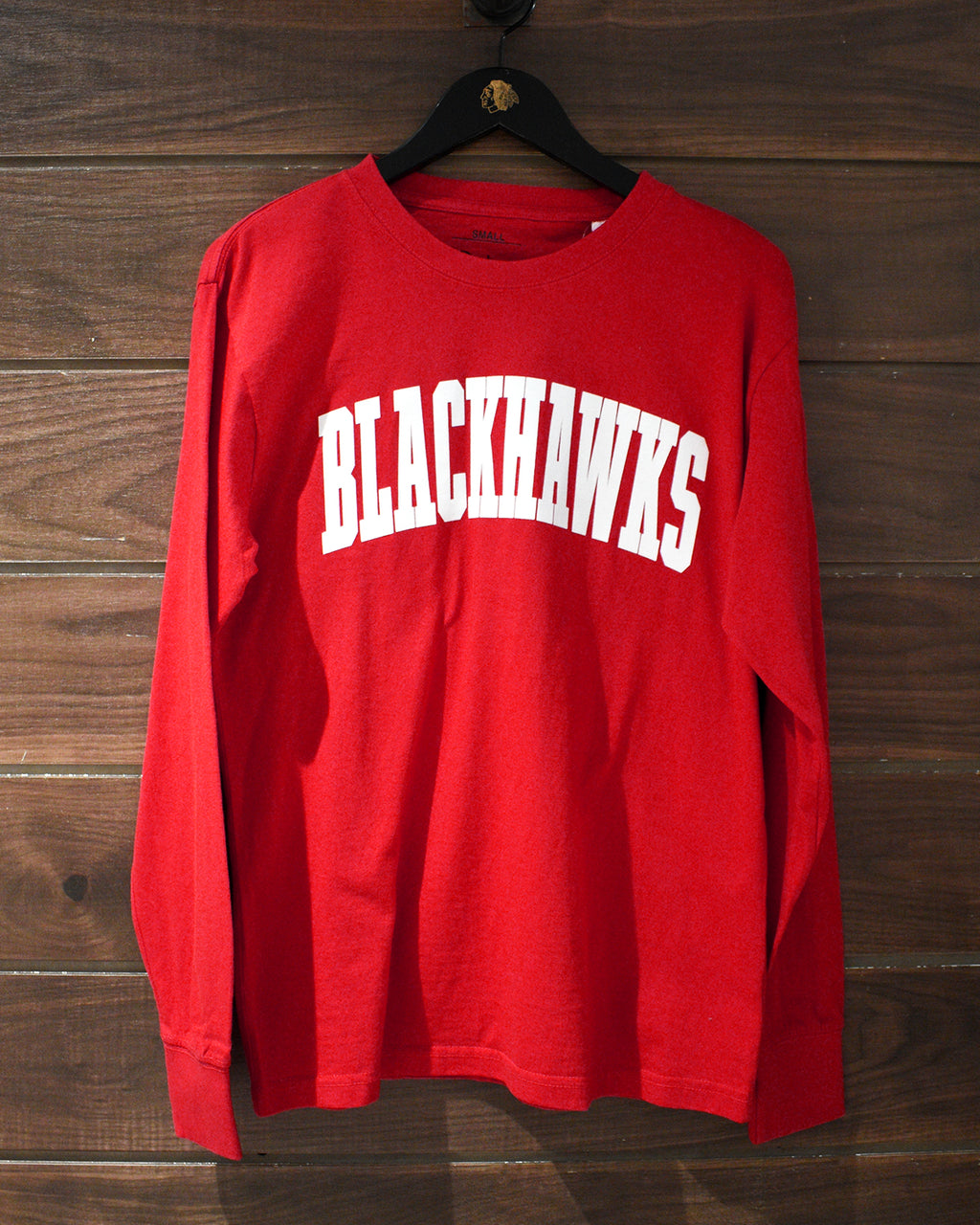 Ladies Pressbox Go Hawks Red Long Sleeve
