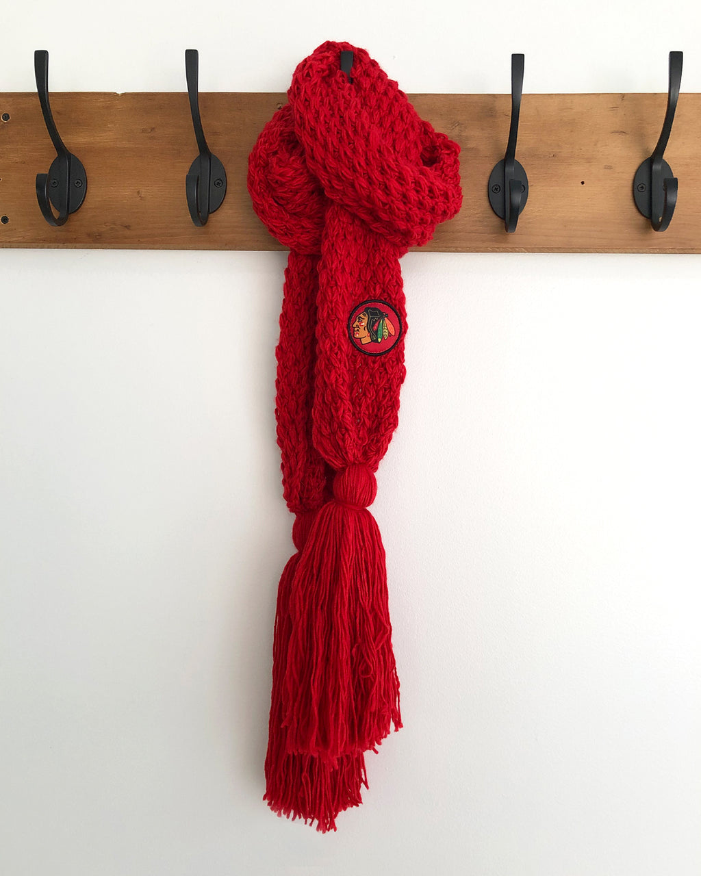Ladies Zoozatz Tassel Knit Scarf