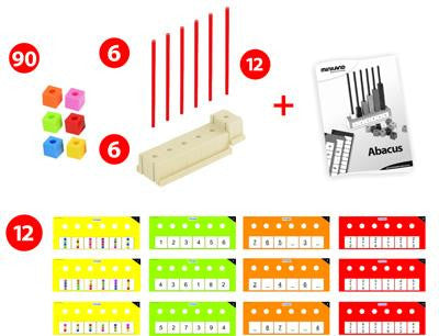 Abacus With Cubes and Activity Cards