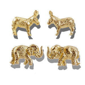 Donkey  and Elephant Cufflinks