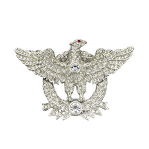 SS. Victorian Crystal Eagle Pin