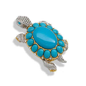 Turtle - Turquoise Pin