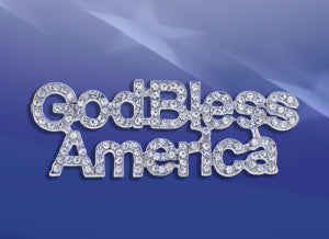 God Bless America Crystal Pin
