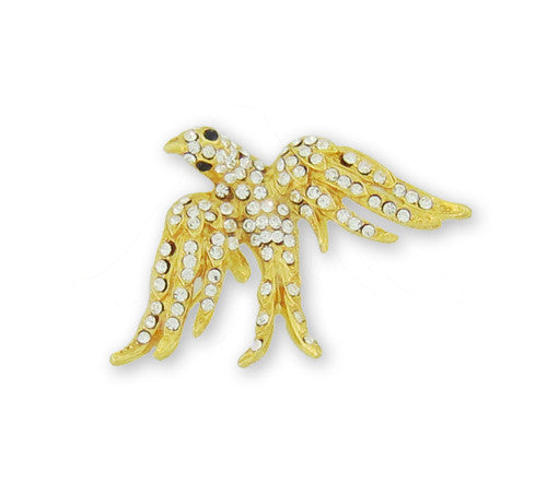 Crystal Dove Pin with CZ