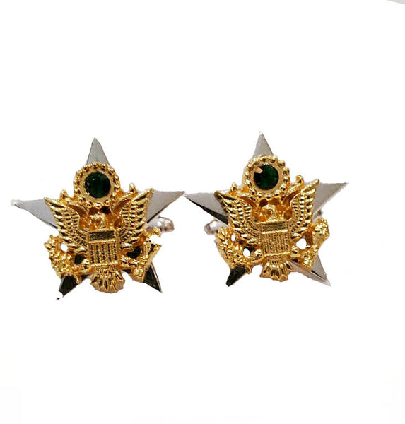 Army Star Cufflinks in Sterling Silver