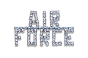 US Air Force Crystal Pin