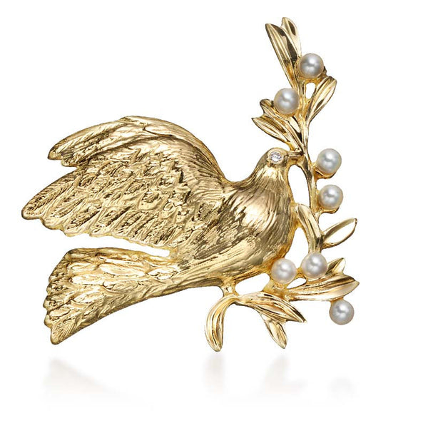 Partners in Peace Dove Pin