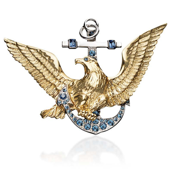 Navy Brooch