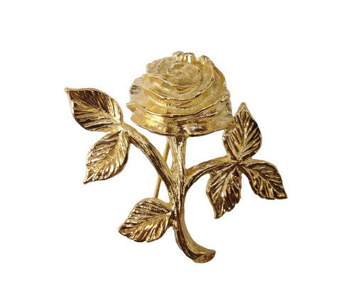American Rose Pin - Small Goldtone