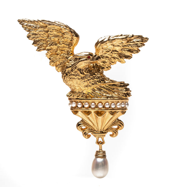 Red Room Eagle Brooch