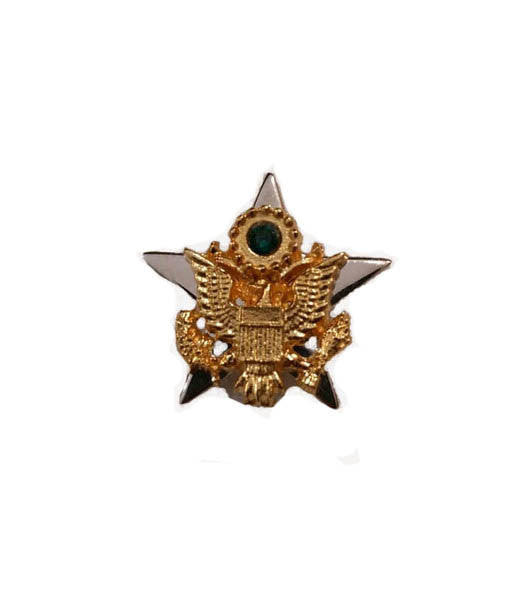 US Army Star Lapel Pin in Sterling Silver
