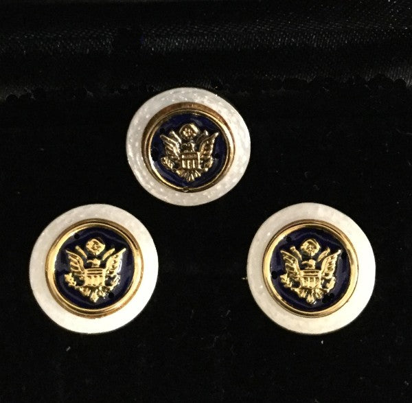 U.S. Great Seal Cufflinks  with white border