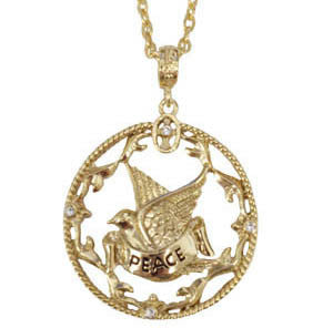 Peace Dove Medallion Necklace