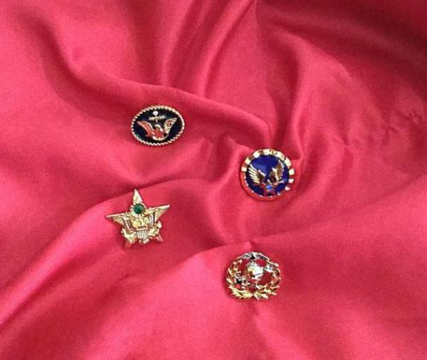 Army, Navy, Marine Corps & Air Force Lapel Pins
