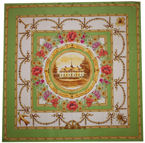 Mount Vernon French Silk Scarf