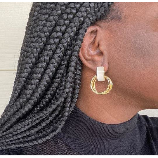 Earrings: Folahan - Abike Oyedele