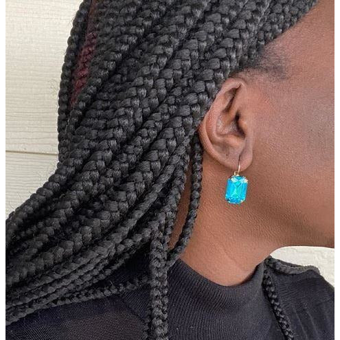 Stone Earrings: Azul - Abike Oyedele