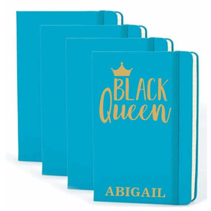 Black Queen Personalized Hardcover Journal - Abike Oyedele