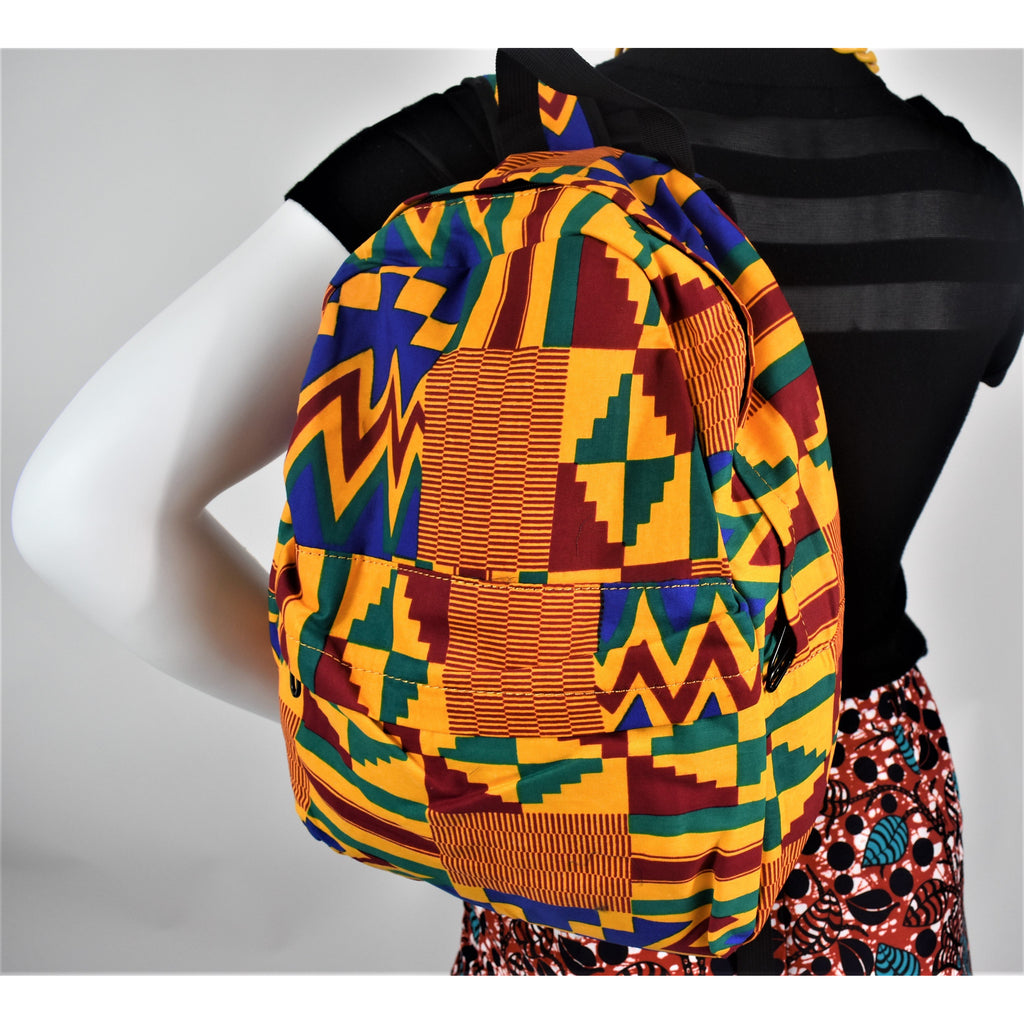 African Print Modupe Backpack - Abike Oyedele