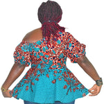 Load image into Gallery viewer, African Print Top: Owotomiwa - Abike Oyedele