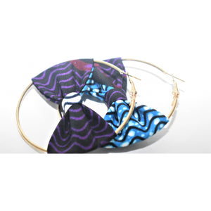 African Print Bow Earrings: Lara - Abike Oyedele