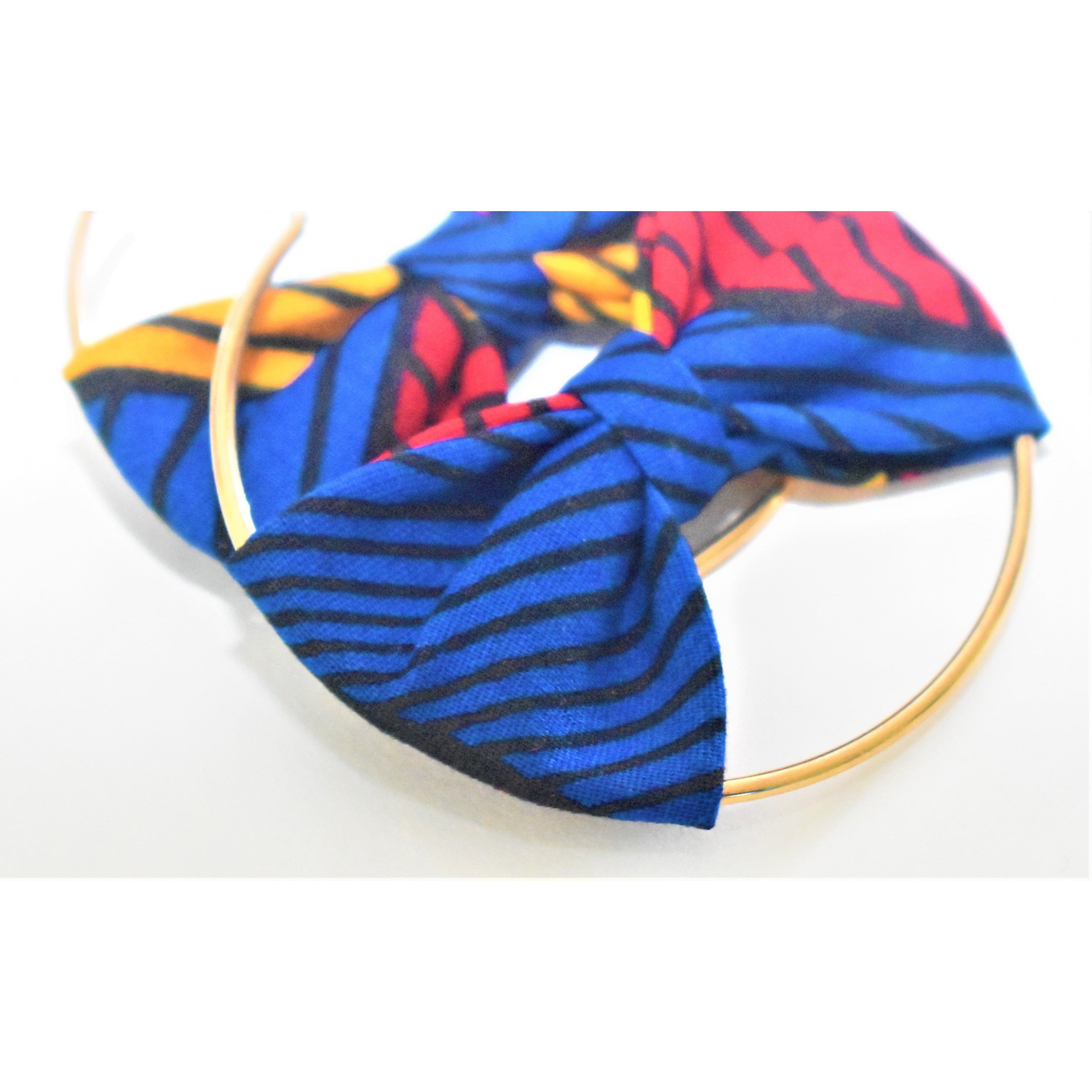 African Print Bow Earrings: Eniola - Abike Oyedele
