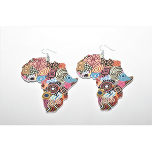 Africa Map Earrings - Abike Oyedele