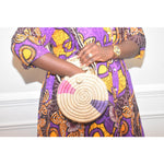 Load image into Gallery viewer, Round Woven Bag: Zaria - Abike Oyedele