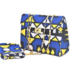Load image into Gallery viewer, African Print Bag & Head Wrap Set: Funmilayo - Abike Oyedele