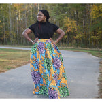 Load image into Gallery viewer, African Print Skirt: Abike - Abike Oyedele