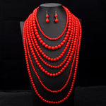 Load image into Gallery viewer, Necklace Set: Sangria - Abike Oyedele