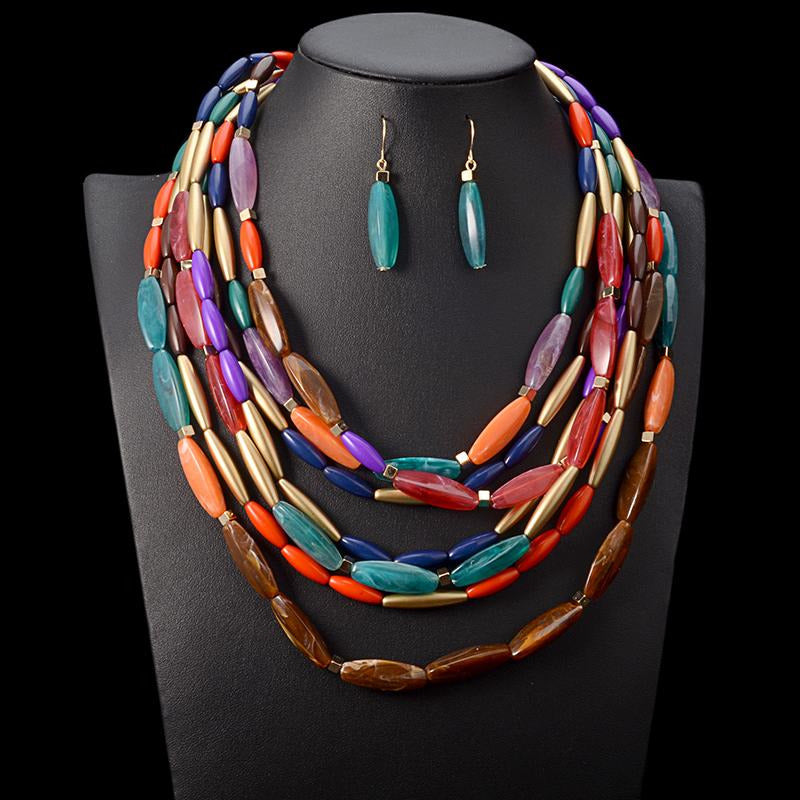 African Inspired Necklace Set: Ebunoluwa - Abike Oyedele
