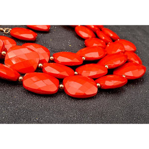 Necklace Set: Rose. - Abike Oyedele