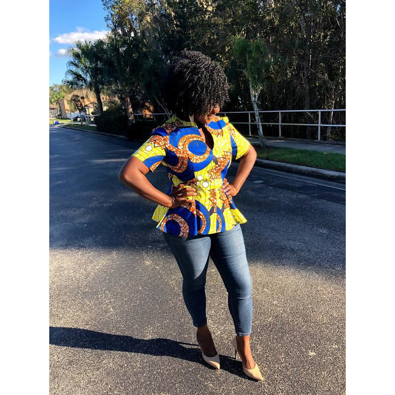 African Print Top: Abigail (Made to Order) - Abike Oyedele