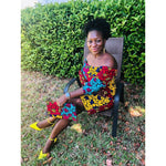 Load image into Gallery viewer, African Print Ngozi Dress - Abike Oyedele