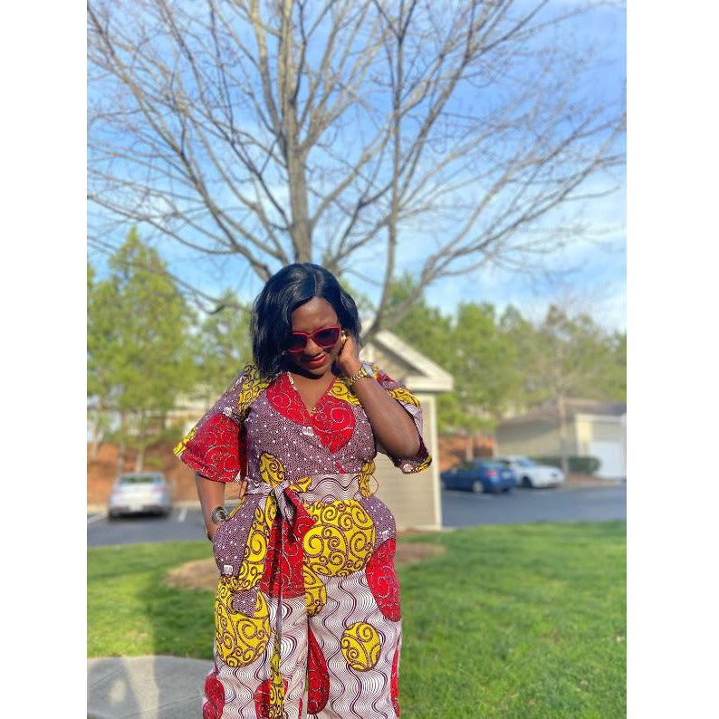 African Print Jumpsuit: Toyin - Abike Oyedele