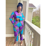 Load image into Gallery viewer, African Print Top & Pant Set: Feranmi - Abike Oyedele