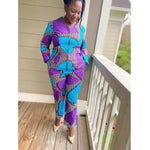 Load image into Gallery viewer, African Print Top & Pant Set: Feranmi