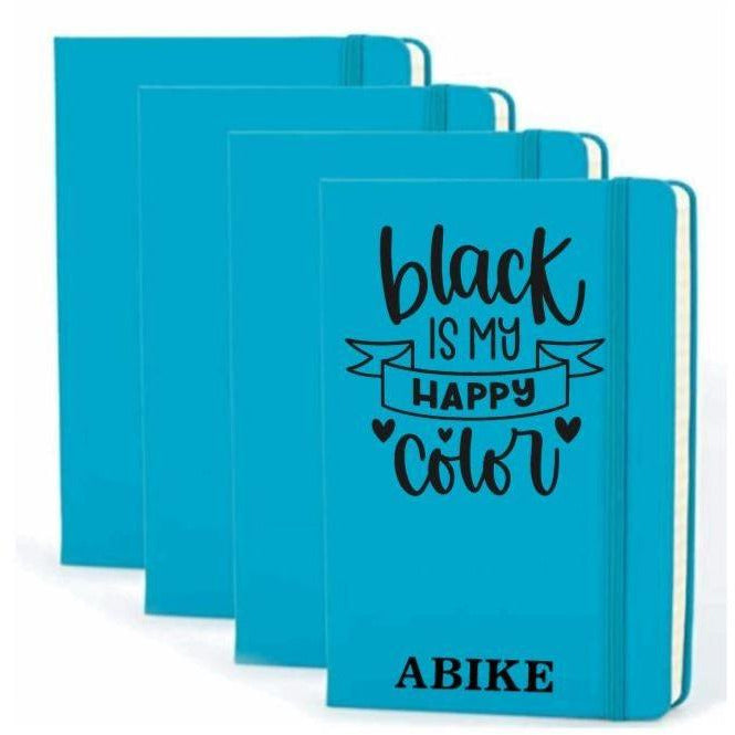 Black Is My Happy Color Personalized Hardcover Journal - Abike Oyedele