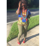 Load image into Gallery viewer, African Print Dashiki Top: Kofi - Abike Oyedele