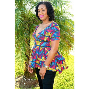African Print Top: Daisy - Abike Oyedele