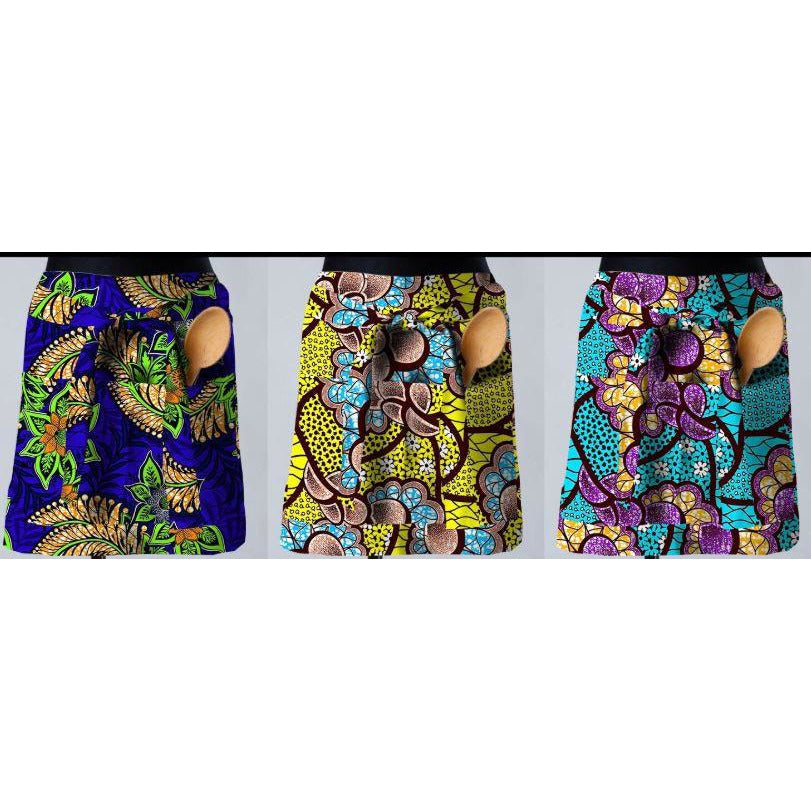 African Print Basket Apron: Ore - Abike Oyedele