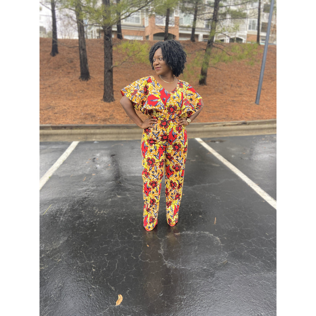 African Print Jumpsuit: Ite - Abike Oyedele