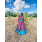 Load image into Gallery viewer, African Print Dress: Araoluwa - Abike Oyedele