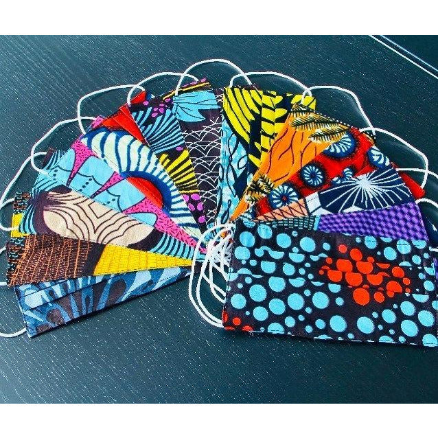 African Print Face Mask - Abike Oyedele
