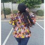 Load image into Gallery viewer, African Print Top: Pelumi - Abike Oyedele