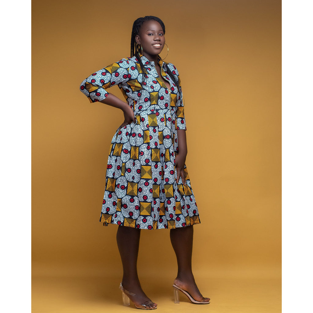 African Print Dress: Titilayo - Abike Oyedele