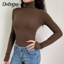 Load image into Gallery viewer, Darlingaga Woman Casual Fall/Winter Solid Long Sleeve Turtleneck
